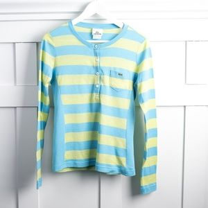 Lacoste long sleeve striped top size 40